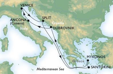 crucero-Italia, Croacia, Grecia - 7 noches a bordo del MSC Sinfonia