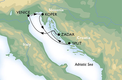 crucero-Italia, Eslovenia, Croacia - 4 noches a bordo del MSC Sinfonia