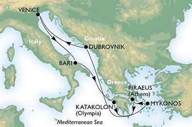 crucero-Italia, Grecia, Croacia - 7 noches a bordo del MSC Magnifica