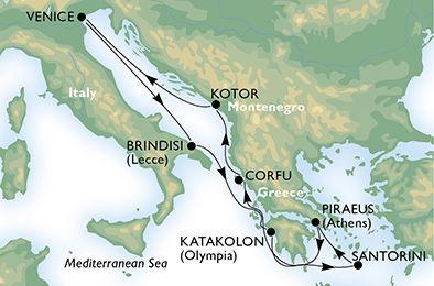 crucero-Italia, Grecia, Montenegro - 7 noches a bordo del MSC Musica