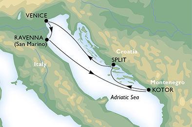 crucero-Italia, Montenegro, Croacia - 4 noches a bordo del MSC Musica