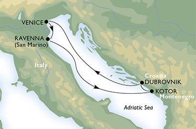 crucero-Italia, Montenegro, Croacia - 4 noches a bordo del MSC Sinfonia